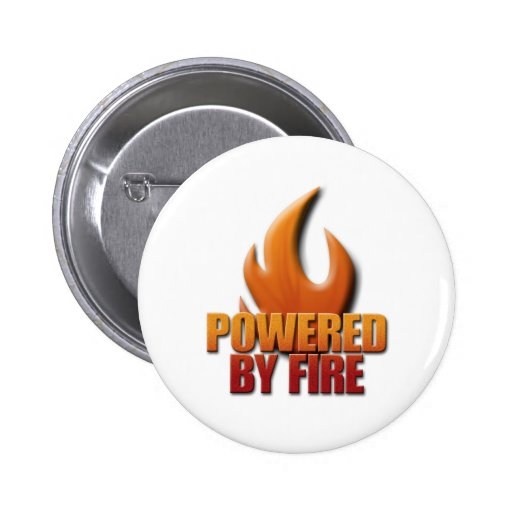 Powered by Fire 2 Inch Round Button