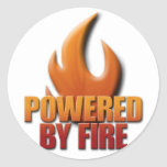 Powered by Fire Classic Round Sticker