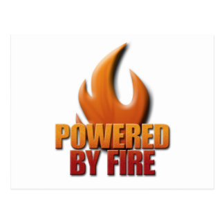 Powered by Fire Postcard