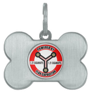 POWERED BY FLUX CAPACITOR PET TAGS