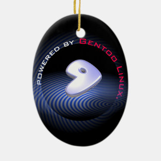 Powered by GENTOO LINUX Logo Ceramic Ornament