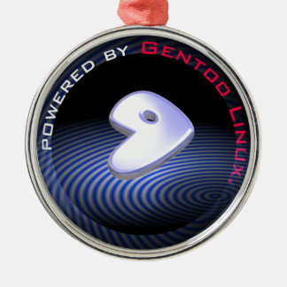 Powered by GENTOO LINUX Logo Metal Ornament