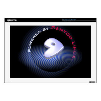 """Powered by GENTOO LINUX Logo Skins For 17"""" Laptops"""