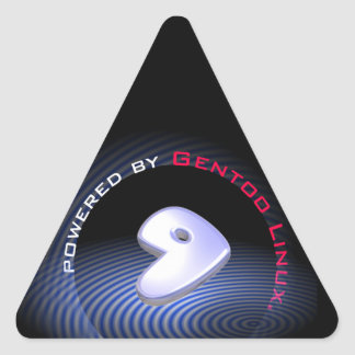 Powered by GENTOO LINUX Logo Triangle Sticker