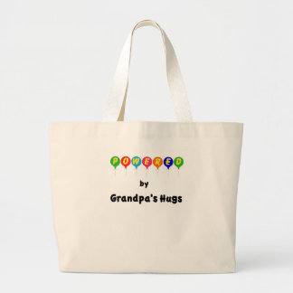 Powered by Grandpa's Hugs Jumbo Tote Bag