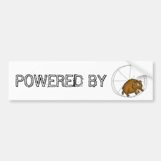 POWERED BY HAMSTER BUMPER STICKER