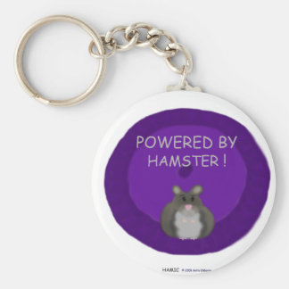 Powered By Hamster (winter white) Keychain