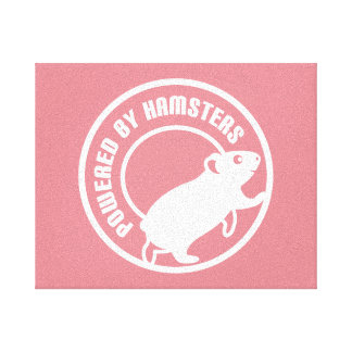 Powered by Hamsters Canvas Print