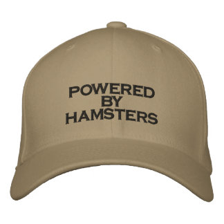 POWERED BY HAMSTERS - hat Embroidered Hats
