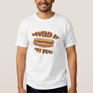 Powered By Hot Dogs T Shirt