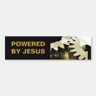 Powered By Jesus Car Bumper Sticker