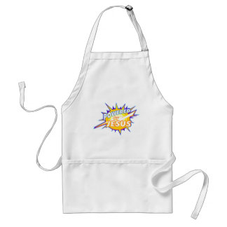 Powered by Jesus Christian gift design Adult Apron