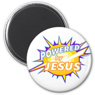 Powered by Jesus Christian gift design Magnet