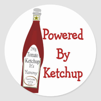Powered By Ketchup Classic Round Sticker