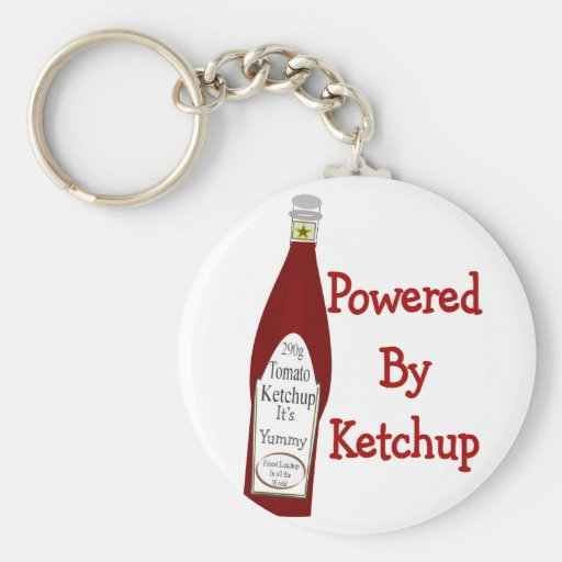 Powered By Ketchup Keychain