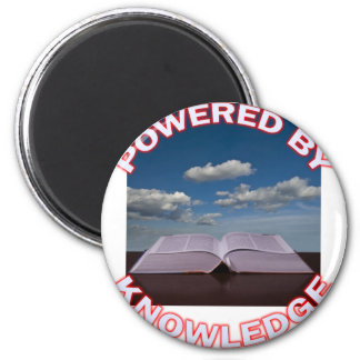 powered by knowledge 2 inch round magnet