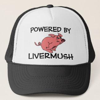 POWERED BY LIVERMUSH retro trucker's cap