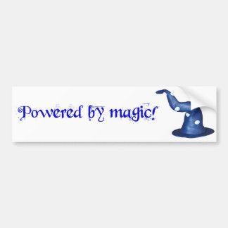 Powered by magic bumper sticker