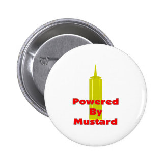 Powered by Mustard Pinback Button