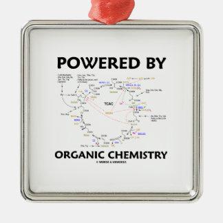 Powered By Organic Chemistry (Krebs Cycle) Metal Ornament