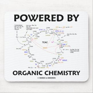 Powered By Organic Chemistry (Krebs Cycle) Mouse Pad