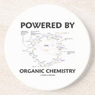 Powered By Organic Chemistry (Krebs Cycle) Sandstone Coaster