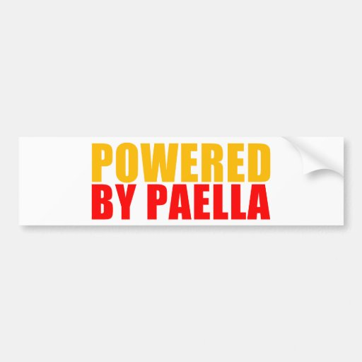 Powered by Paella Car Bumper Sticker