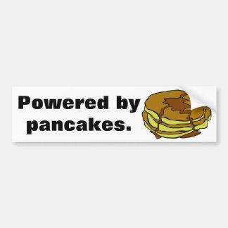 Powered by pancakes car bumper sticker