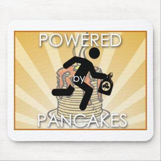 Powered by Pancakes Sunrays Logo - Hygge Mouse Pad