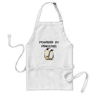 Powered By Penguins Adult Apron