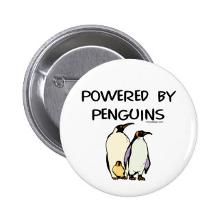 Powered By Penguins Pinback Button