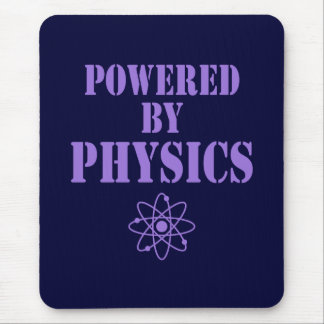 Powered By Physics Mouse Pad