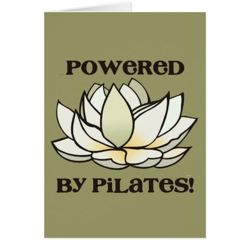 Powered By Pilates Lotus Card