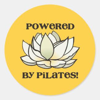 Powered By Pilates Lotus Classic Round Sticker