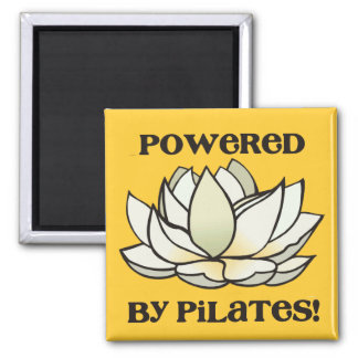 Powered By Pilates Lotus Refrigerator Magnet