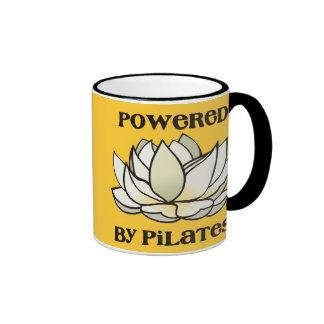 Powered By Pilates Lotus Ringer Coffee Mug