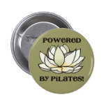 Powered By Pilates Lotus Pinback Button