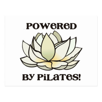 Powered By Pilates Lotus Post Card
