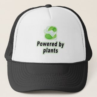 Powered By Plants For Vegan Plant Based Diet Gift Trucker Hat