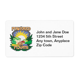 Powered by Plants Label