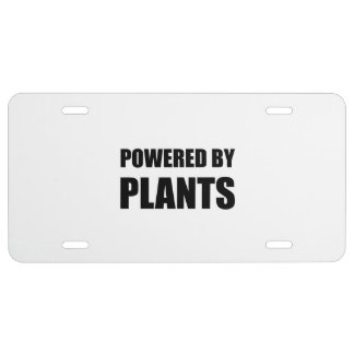 Powered By Plants License Plate
