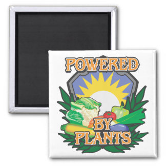 Powered by Plants Refrigerator Magnets