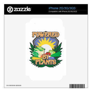 Powered by Plants Skins For iPhone 3G