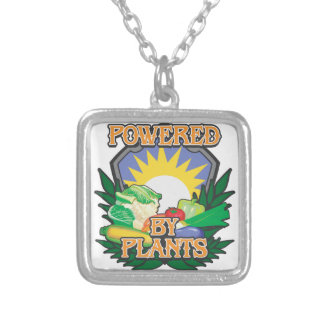 Powered by Plants Square Pendant Necklace