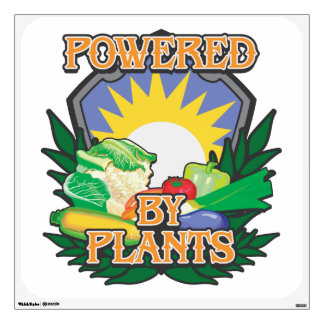 Powered by Plants Wall Decals