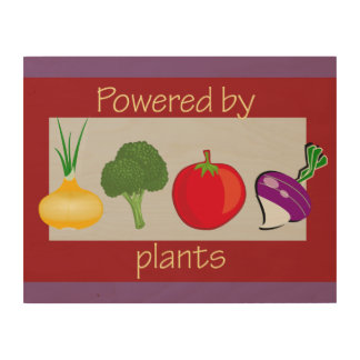 Powered by Plants Wood Wall Decor