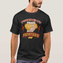 Powered By Potatoes Funny Vegetable T-Shirt