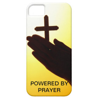 Powered by Prayer cell phone case