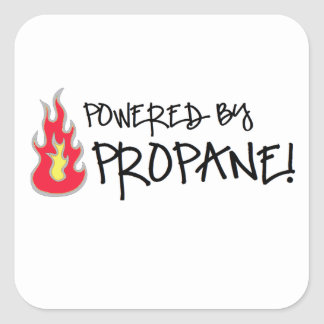 Powered by Propane Square Sticker