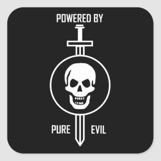 Powered by Pure Evil Square Sticker